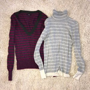 Lot of 5 sweaters Express Gap knit cardigan